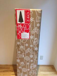 240cmのクリスマスツリー開封前