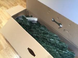 クリスマスツリー開封後