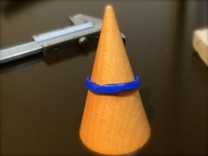 ねじりデザインの手作り結婚指輪-1