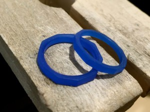 多面体の手作り結婚指輪