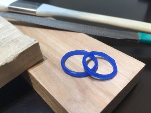 つちめデザインの手作り結婚指輪