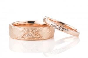 愛知:鎚目と平甲丸の手作り結婚指輪(PG)