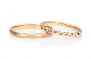 鎚目ふうの手作り結婚指輪(三重県)