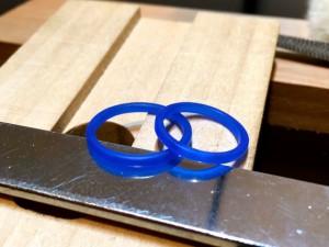 細身の手作り甲丸リング