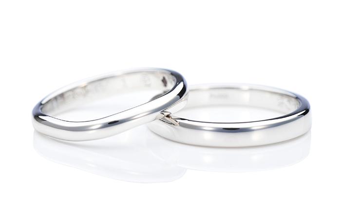 愛知-ウェーブと平甲丸の手作り結婚指輪