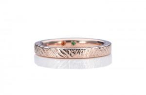 槌目の手作り指輪